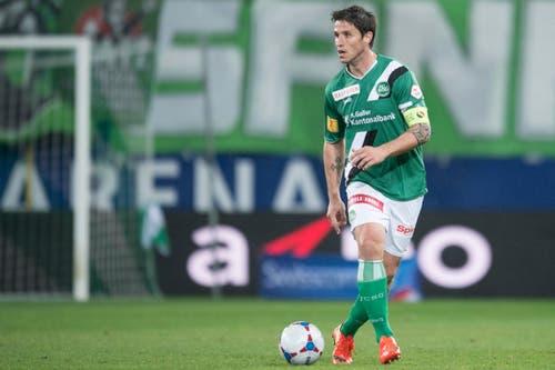 Martin Stocklasa kam im Heimspiel gegen Valencia zu einem Teileinsatz. Aktuell ist der Liechtensteiner Assistenztrainer von Joe Zinnbauer beim FCSG. (Bild: Urs Jaudas)