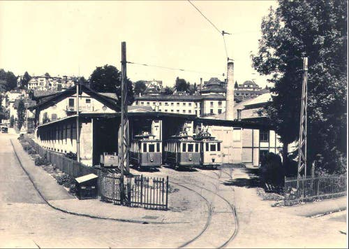 Das Tramdepot im Museumsquartier (Bild: Stadtarchiv der Ortsbürgergemeinde St.Gallen)