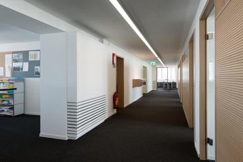 Ein Geschäftshaus in Zürich: Raumklimageräte ergänzen das Raumdesign und unterstreichen den Ausdruck der Architektur. (Bild: PD)