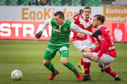 Stjepan Kukuruzovic erzielte das 1:0. (Bild: Michel Canonica)