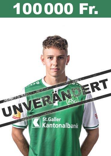 Mittelfeldspieler Alessandro Kräuchi bleibt bei 100'000 Franken. (Bild: pd)