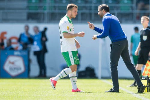 """Sonntag, 30. April 2017, St.Gallen - YB 0:2: """" Ich wollte die Mannschaft kitzeln."""" (Bild: Keystone)"""