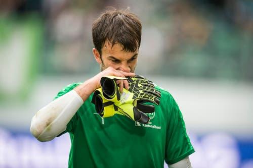 Hymne hin oder her: St.Gallen findet im ersten Saisonspiel gegen YB den Takt nicht, hat praktisch keine Torchancen und verliert mit 0:2. (Bild: Benjamin Manser)