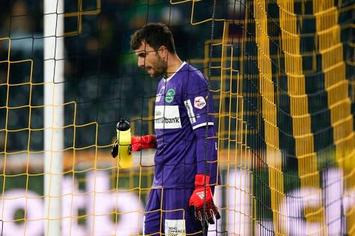 Ein enttäuschter Daniel Lopar am 28. November 2015 - 1:2-Auswärtsniederlage bei den Young Boys. (Bild: PETER KLAUNZER (KEYSTONE))