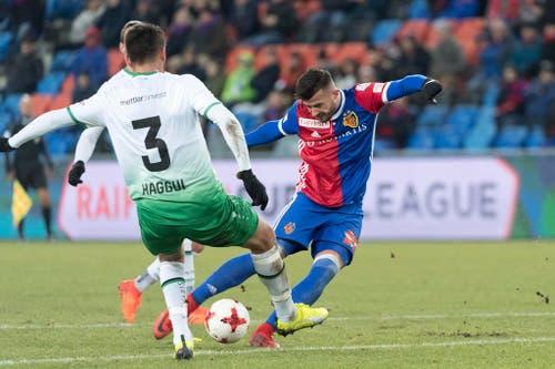 Basels Albian Ajeti erzielt das 2:0. (Bild: Keystone)