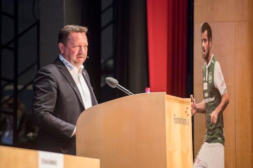 Präsident Stefan Hernandez. (Bild: Urs Bucher)