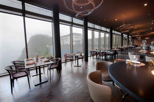 Restaurant Spices mit Blick in Richtung Palace-Hotel. (Bild: Eveline Beerkircher)