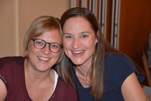 Carina Keller-Breitenmoser und Nina Schönenberger. (Bild: Beat Lanzendorfer)