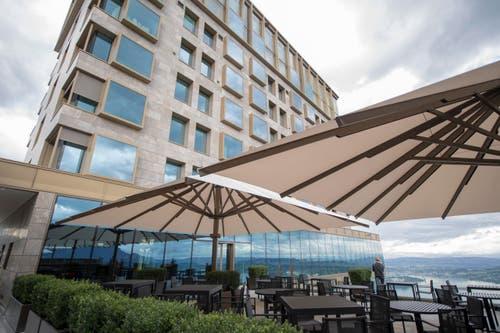Die Architektur des neuen Bürgenstock-Hotels. (Bild: Urs Flüeler / Keystone)