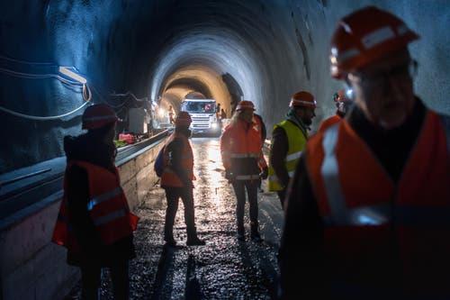 Michel Canonica / Tagblatt Tunnelrundgang an der Ruckhalde (Bild: Michel Canonica)