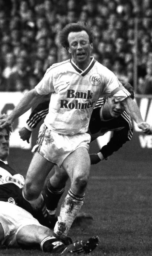 Roger Hegi, damals Captain des FC St.Gallen, war der Denker und Lenker im Mittelfeld. (Bild: Archiv/St.Galler Tagblatt)