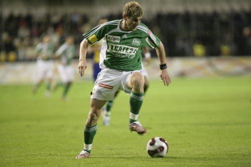 David Marazzi wechselte nach dem Abstieg im Sommer 2008 zum FC Aarau. Der linke Mittelfeldspieler verbrachte zuvor 5 Saisons in der Ostschweiz. Kostenpunkt: 220'000 Franken. (Bild: Michel Canonica)