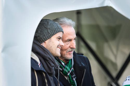 Dölf Früh mit Tranquillo Barnetta. (Bild: Michel Canonica)