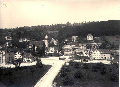 Tramendstation im Heiligkreuz (Bild: Stadtarchiv der Ortsbürgergemeinde St.Gallen)