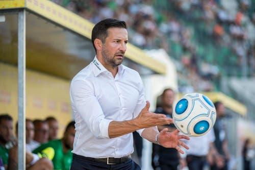 """11. September 2016, FCSG - Lugano 0:2: """"Alles aufgebaut - alles wieder umgerissen."""" (Bild: Urs Bucher)"""