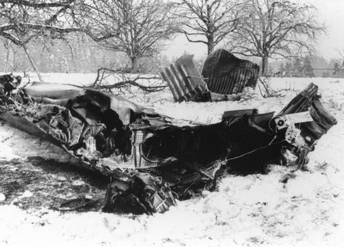 Der Bomber B-24 ist nach einem Einsatz über Regensburg am 25. Februar 1944 bei Bruberg abgestürzt. (Bild: PD)
