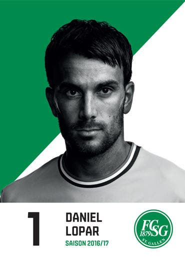 Daniel Lopar: Note 4. An ihm liegt St.Gallens zweite Niederlage in Serie nicht. Lopar hält, was er halten kann. Rettet in der 63. Minute bei Dabburs Kopfball mit Glück und Können. (Bild: PD)