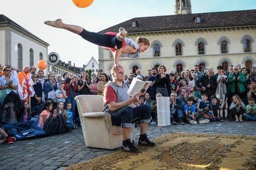 St. Gallen - Aufgetischt mit 80 Künstlern Im Bild Kate & Pasi (Bild: Ralph Ribi)
