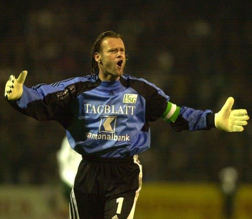 Jörg Stiel, der Kapitän der Meistermannschaft 2000, verliess den FC St.Gallen im Sommer 2001 in Richtung Bundesliga. Borussia Mönchengladbach holte sich den damaligen Natispieler für eine Ablöse von ebenfalls 440'000 Franken. (Bild: Archiv STG)