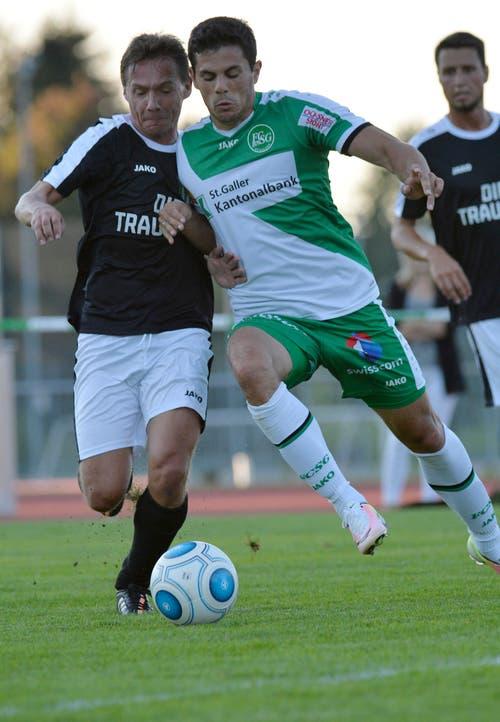 Danijel Aleksic gegen Beni Eugster aus St.Gallen. (Bild: Ralph Ribi)