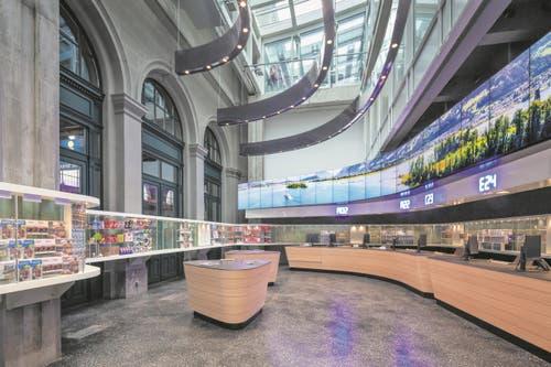 Der Tourist Service am Hauptbahnhof ist eine moderne Visitenkarte für die Stadt Zürich. (Bild: PD)
