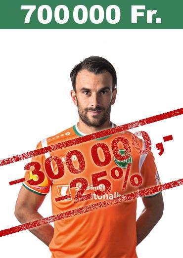 Stammgoalie Daniel Lopar verliert 300'000 Franken und hat neu einen Marktwert von 700'000 Franken. (Bild: pd)