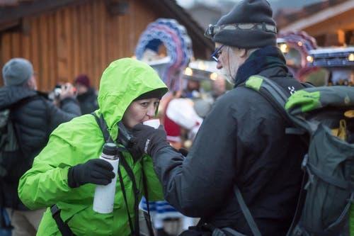 Tagblatt-Fotograf Michel Canonica war am frühen Samstagmorgen in Urnäsch beim Alten Silvester mit dabei. Alter Silvester in Urnäsch AR (Bild: Michel Canonica)