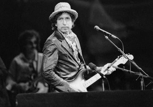 Dylan 1984 im St. Jakob-Park in Basel. (Bild: Keystone)