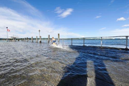 Am Hafen von Ermatingen. (Bild: Donato Caspari)