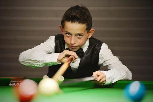 Kategorie Newcomer: Luis Vetter aus Güttingen spielt Snooker seit er fünf ist. Mittlerweile ist er 12 Jahre alt - und will in zwei Jahren der beste Schweizer Snooker-Spieler sein. (Bild: Reto Martin)