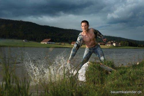 Johann Eggimann aus dem Kanton Bern. (Bild: www.bauernkalender.ch)