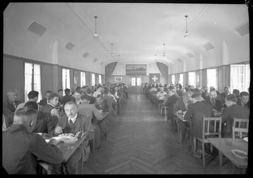 Aufnahme vom 30. Juni 1941 aus der Kantine der Fabrik der Gebrüder Bühler in Uzwil. (Bild: Bühler AG)