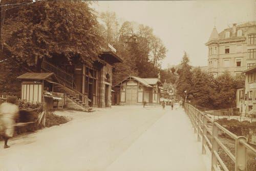 Bergstation der Mühleggbahn in St.Gallen, circa 1905 (Bild: Unbekannt)