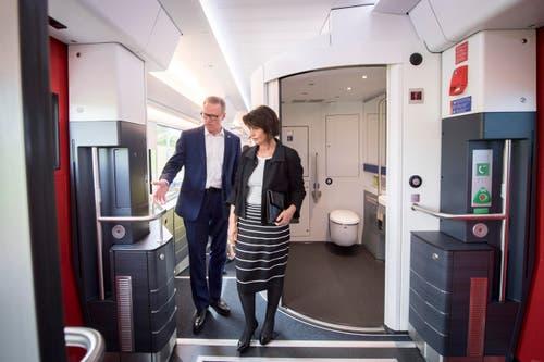 Bundespräsidentin Doris Leuthard und SBB-Chef Andreas Meyer. (Bild: Urs Bucher)