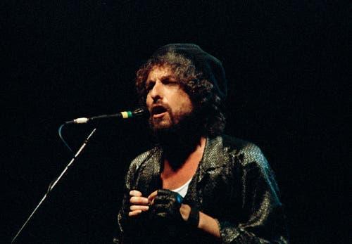Sein erstes Konzert in Israel spielte Dylan 1987 in Tel Aviv. 40'000 Fans kamen zur Vorstellung des US-Amerikaners. (Bild: Keystone)