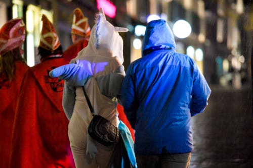 Frauenfeld TG , 15.01.2018 / Bechtelisnacht in der Innenstadt von Frauenfeld (Bild: Donato Caspari)