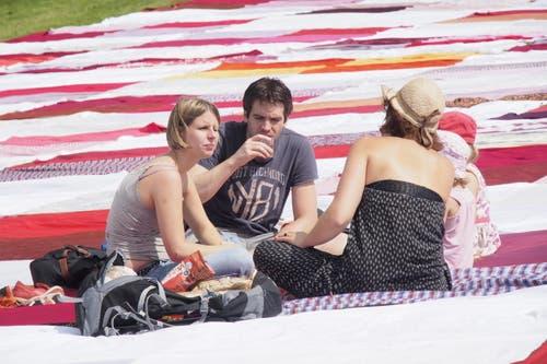 ...und natürlich picknicken. (Bild: Hanspeter Schiess)