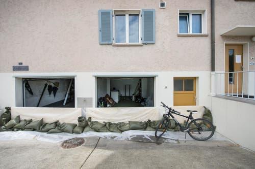 Hochwasserschutz in Steinach. (Bild: Urs Bucher)