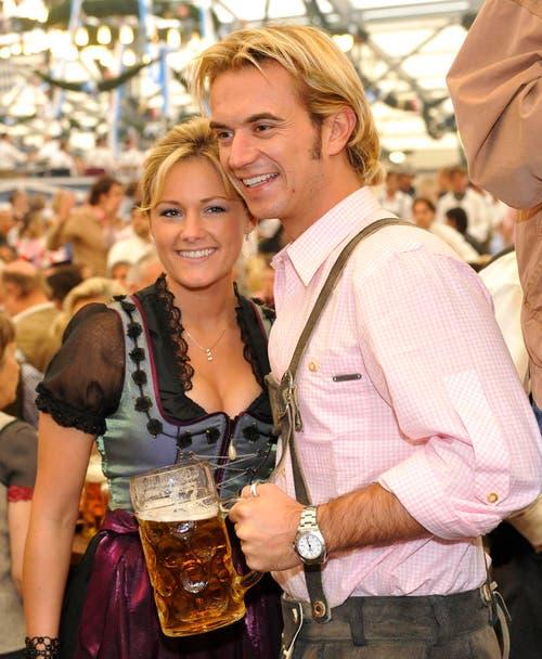 2008 feierte das Liebespaar sein erstes, gemeinsames Oktoberfest. (Bild: Keystone)