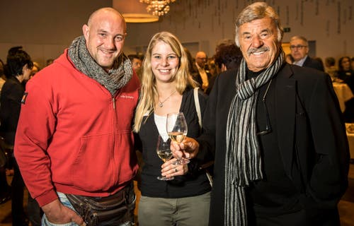 Stefan Burkhalter, Angela Stocker und Hausi Leutenegger. (Bild: Reto Martin)