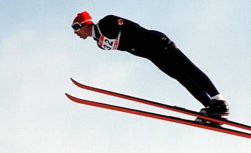 Der Schweizer Walter Steiner (Grossschanze) musste sich in Sapporo 1972 mit Silber begnügen. (Bild: Keystone)