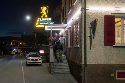 Das Restaurant Löwen in Kaltbrunn. (Bild: Benjamin Manser)