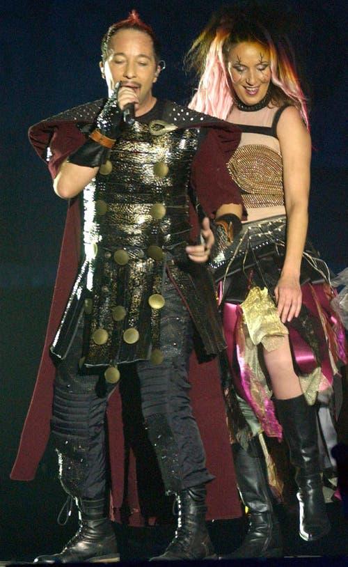 """Anlässlich der """"Pirates of Dance""""-Tour in Engelberg im November 2004. (Bild: Keystone)"""
