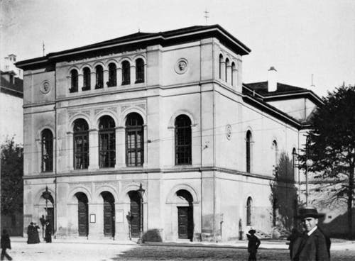 Das alte Stadttheater im ursprünglichen Zustand 1857. (Bild: Stadtarchiv Ortsbürgergemeinde St.Gallen)