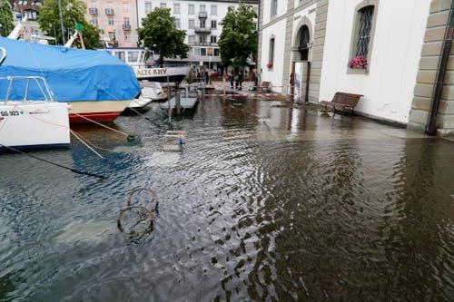 Hochwasser in Rorschach. (Bild: Rudolf Hirtl)