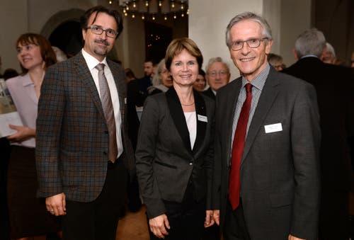 Politiker: David H. Bon, Brigitte Häberli, Claudius Graf-Schelling. (Bild: Nana do Carmo)