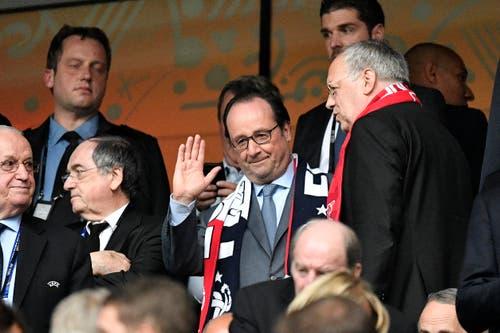 Frankreichs Präsident Francois Hollande neben Bundespräidenten Johann Schneider-Ammann. (Bild: Martin Meissner / Keystone)