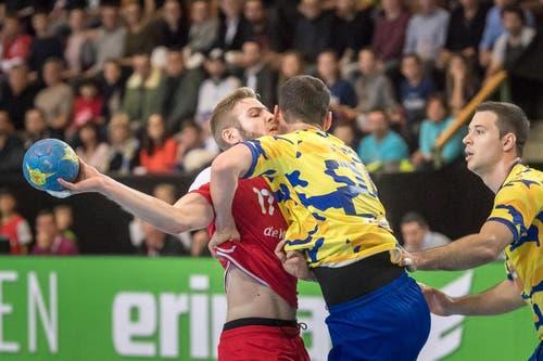 Handball: LŠnderspiel Schweiz - Bosnien (Bild: Michel Canonica)