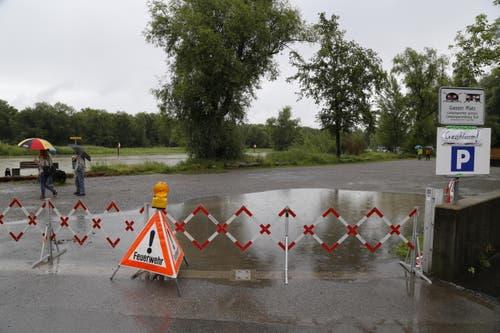 Parkplatz beim Camping Idyll in Altenrhein. (Bild: Rudolf Hirtl)