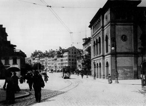 Das alter Theater im Ursprungszustand. (Bild: Stadtarchiv Ortsbürgergemeinde St.Gallen)